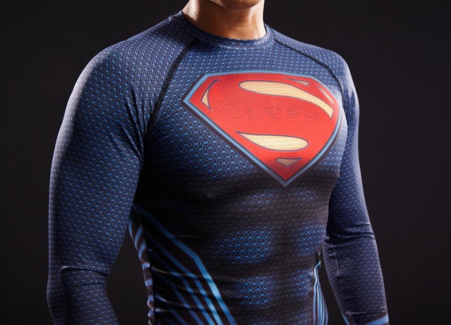 d4bf47d3054c Pánské kompresní tričko s dlouhým rukávem superman - vel. XL
