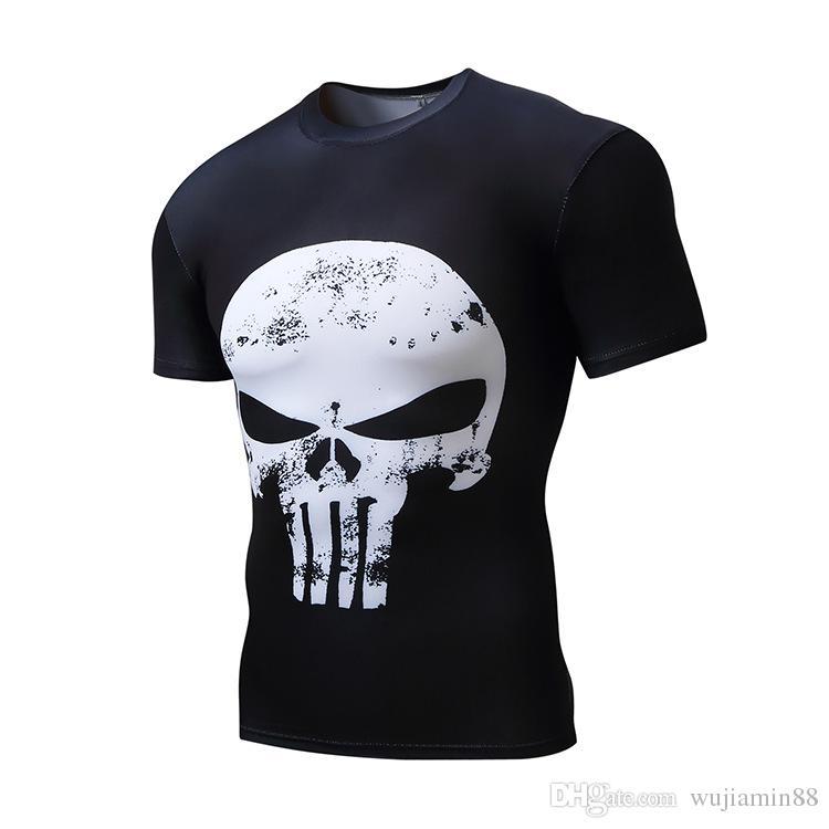... Pánské kompresní tričko HeatGear Punisher - bílá lebka - vel. XXL.  Zobrazit 7eea96ba41a