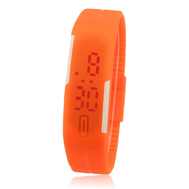 Sportovní digitální LED hodinky - oranžové 7a938f4987